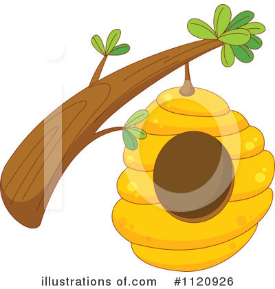 Bee Hive clipart tree clip art Illustration Graphics Stock #1120926 by