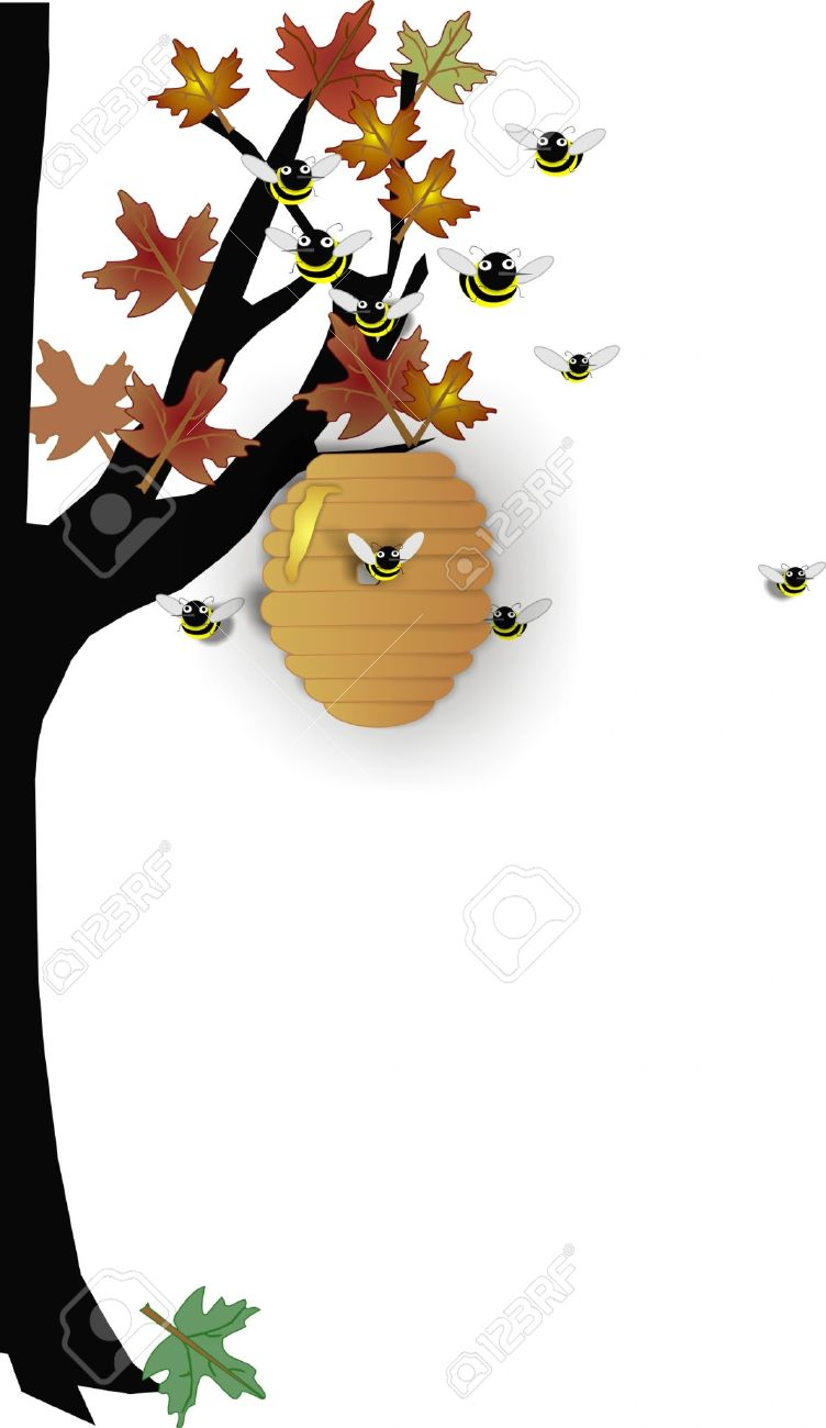 Bee Hive clipart tree drawing #23 beehive tree #23 clipart
