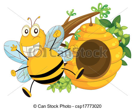 Bee Hive clipart tree drawing With with a of Vector