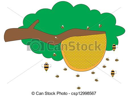 Bee Hive clipart tree drawing Of hive Beehive Art protect