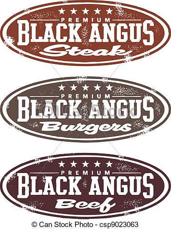 Beef clipart angus cow Premium Stamp  Vintage Angus