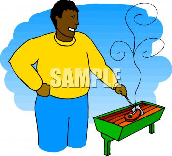 Steak clipart man Cartoon on a an Steak