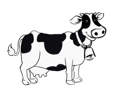 Cattle clipart black and white Free And Art Clipart Clip
