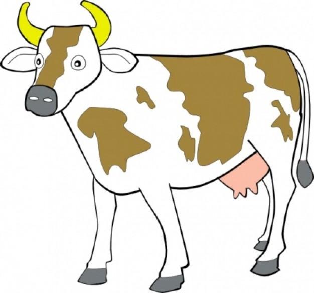 Open clipart cartoon cow #14