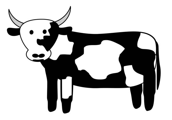 Cattle clipart white background Free Clipart Images Panda Cow