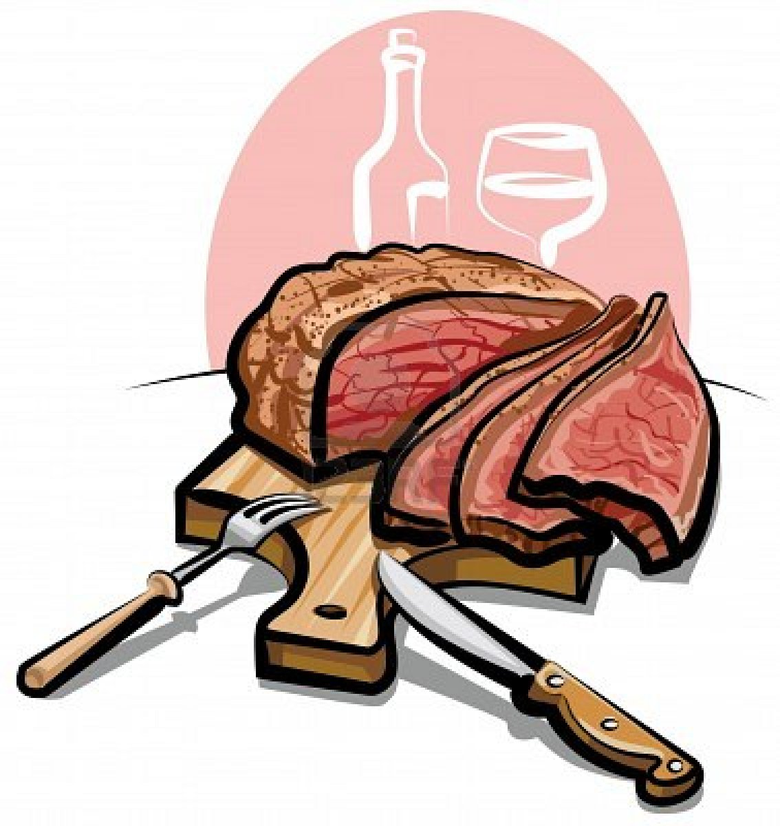 Roast clipart cooked steak #4