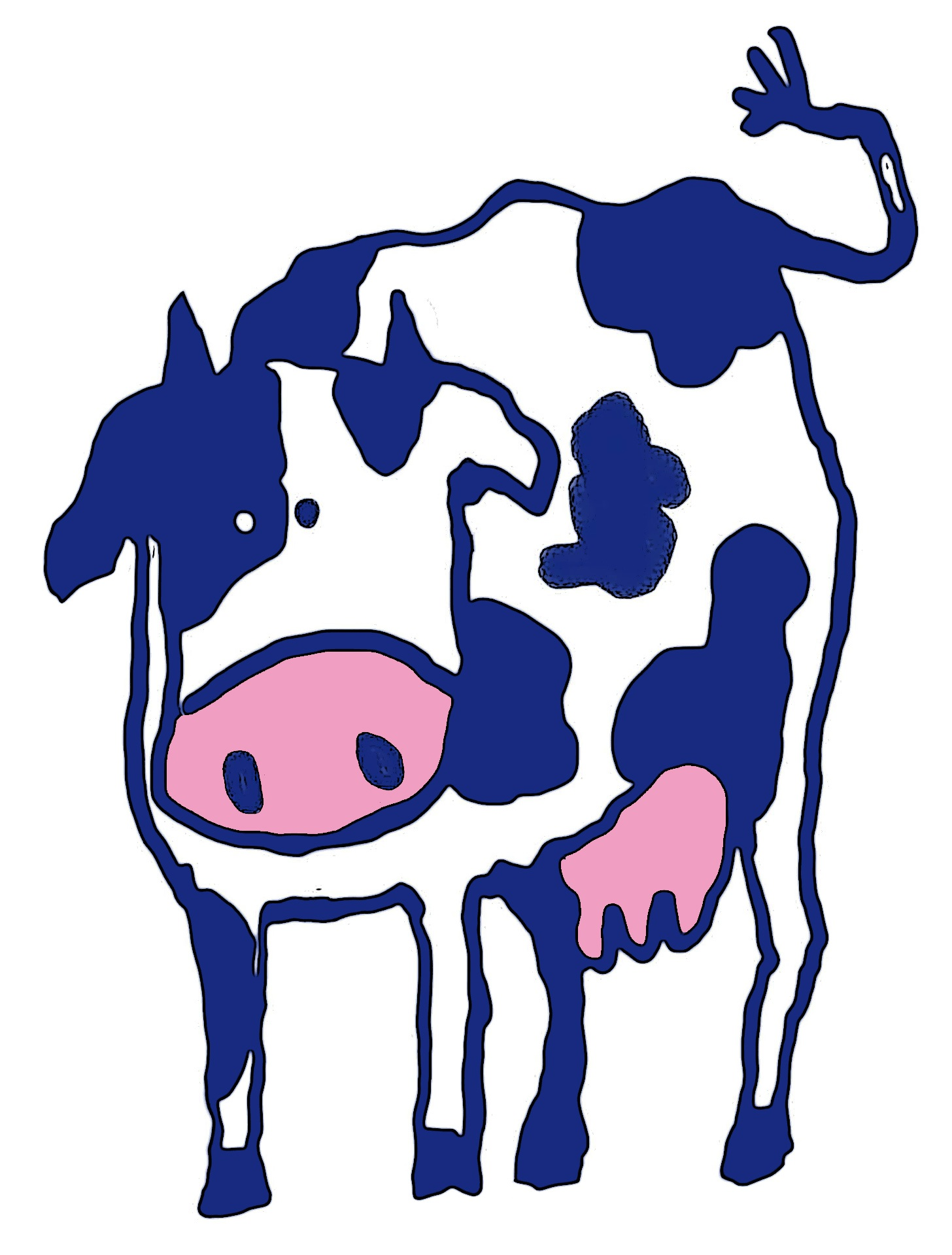 Beef clipart dairy cow Pasture caricature  cows cattle