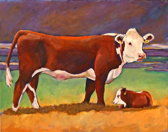 Beef clipart hereford cow And Hereford Folk by Art