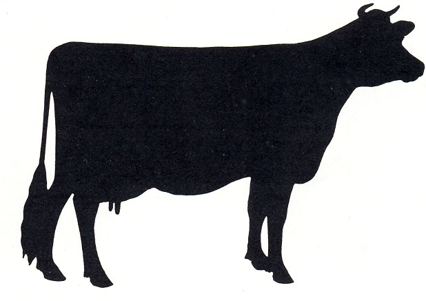 Beef clipart jersey cow Silhouette Clipart Panda Cow Beef