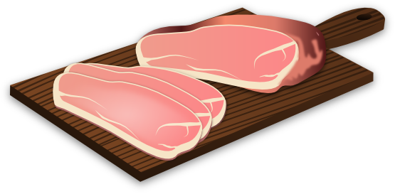 Pork clipart piece meat Art Cliparts Clip Food on