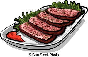 Beef clipart roast beef Csp12383822 Vector of roast