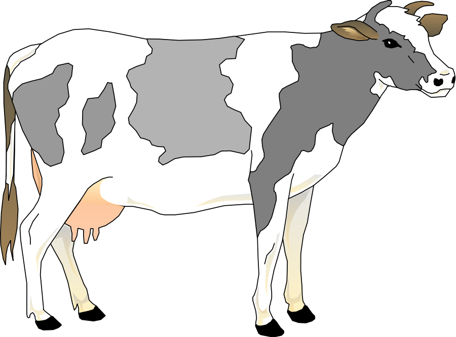 Cattle clipart cow family #2