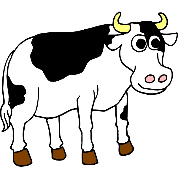 Cattle clipart cow family #3