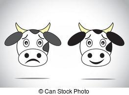 Beef clipart sad Illustration Vectors faced cow Vector