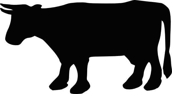 Beef clipart silhouette  Silhouette clip svg Free
