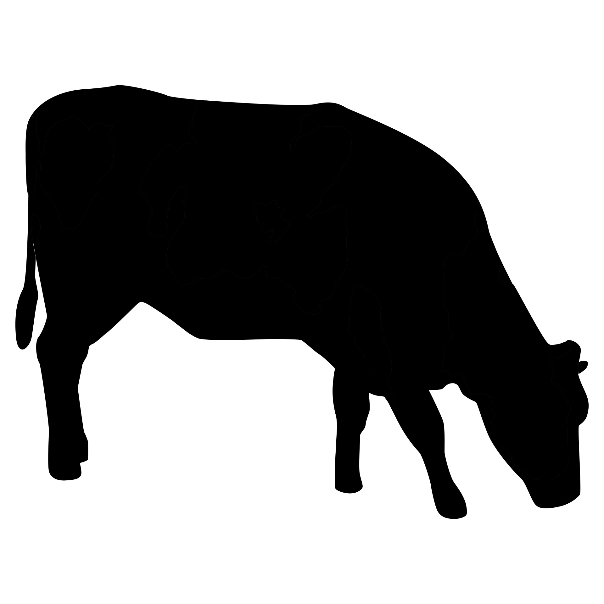 Beef clipart silhouette  Silhouette Free Silhouette Bull