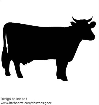 Beef clipart silhouette Vache Lamb Panda White Free