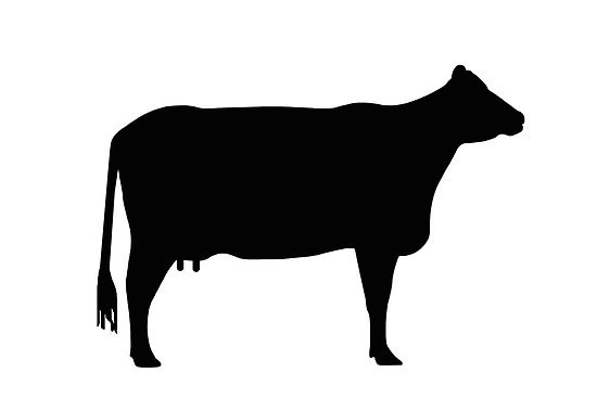 Beef clipart silhouette Beef Cow Images Free Silhouette