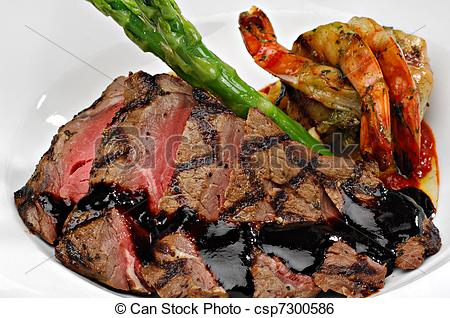 Beef clipart surf and turf Sliced Stock Turf steak Turf