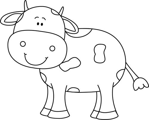 Cattle clipart black and white Pinterest White and cow Best