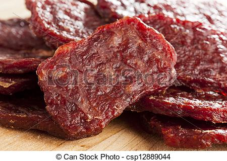 Beef Jerky clipart Dried a Beef  against