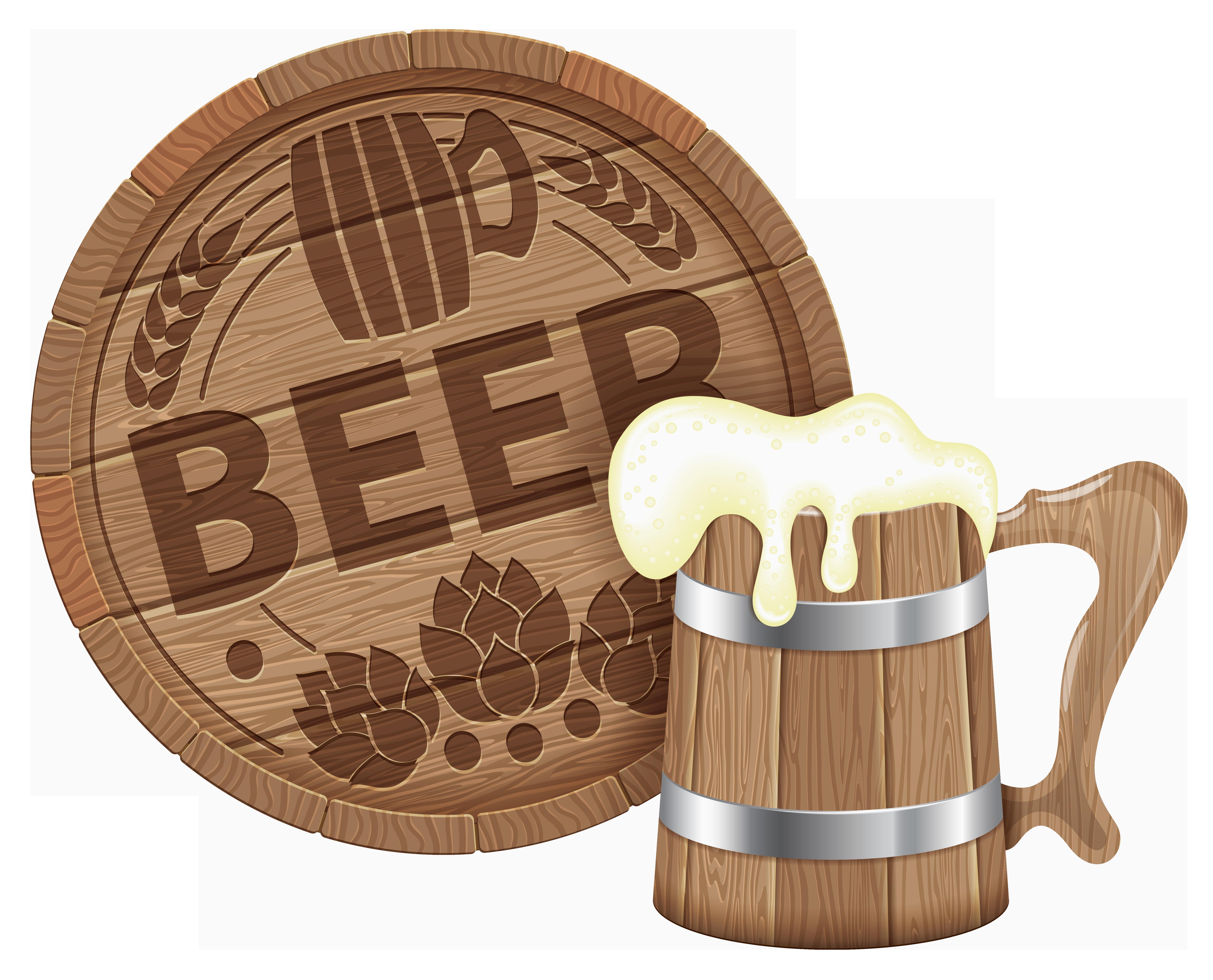 Beer clipart beer barrel Barrel View Mug PNG Beer