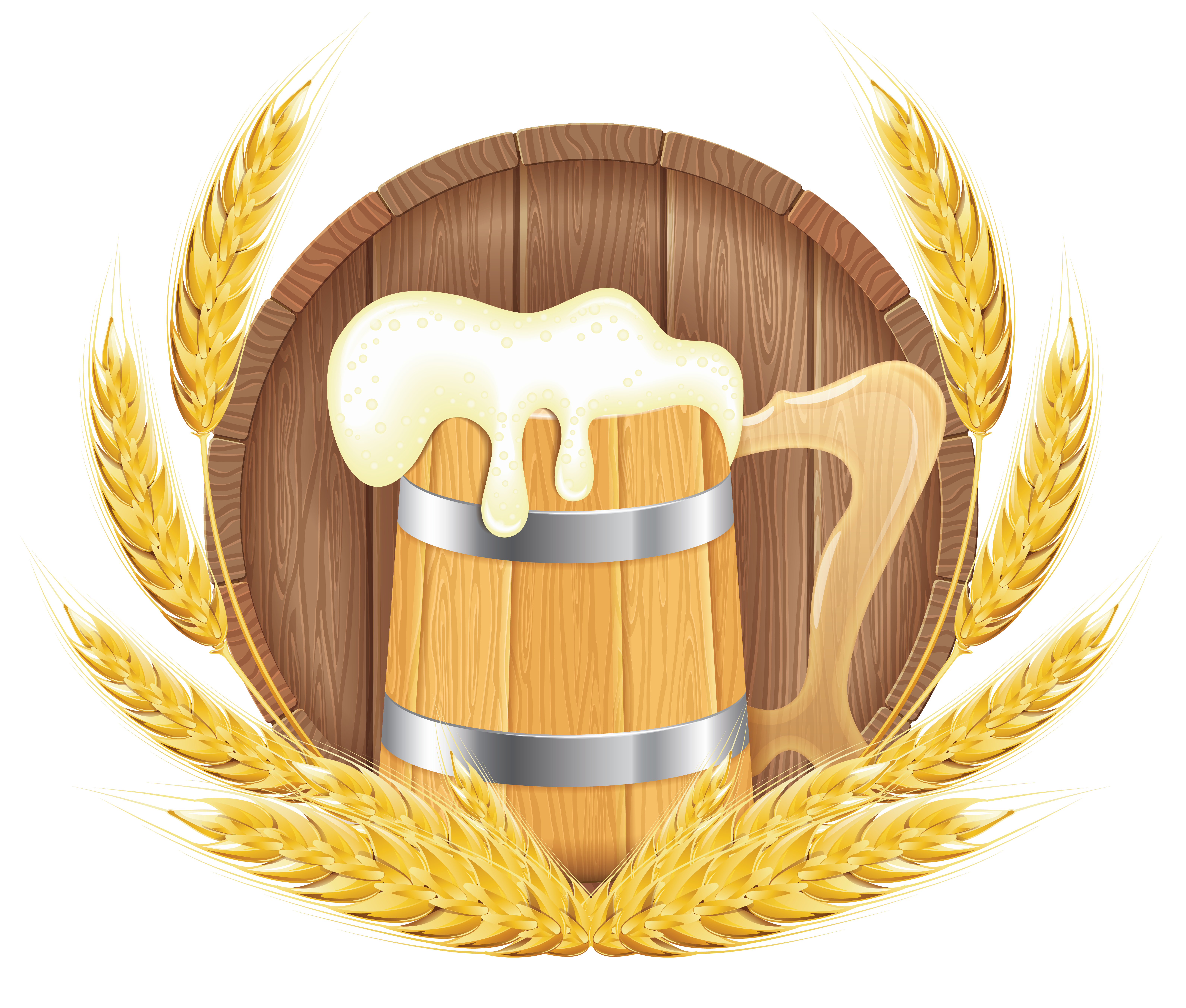Beer clipart beer barrel Barrel View and Wheat Beer