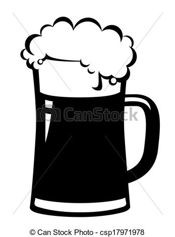 Beer clipart black and white On 66  vector Beer