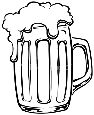 Beer clipart black and white Clip Beer beer art black