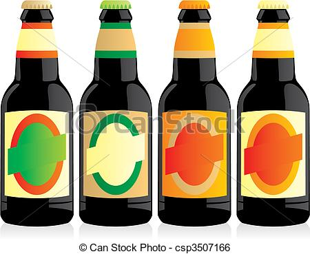 Beer clipart botle Vector Clip Art of isolated