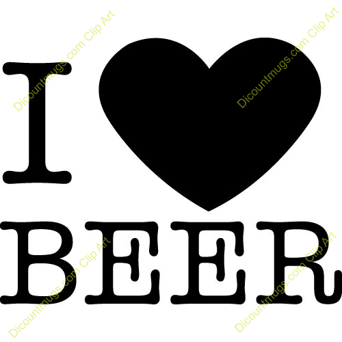 Beer clipart i love #1