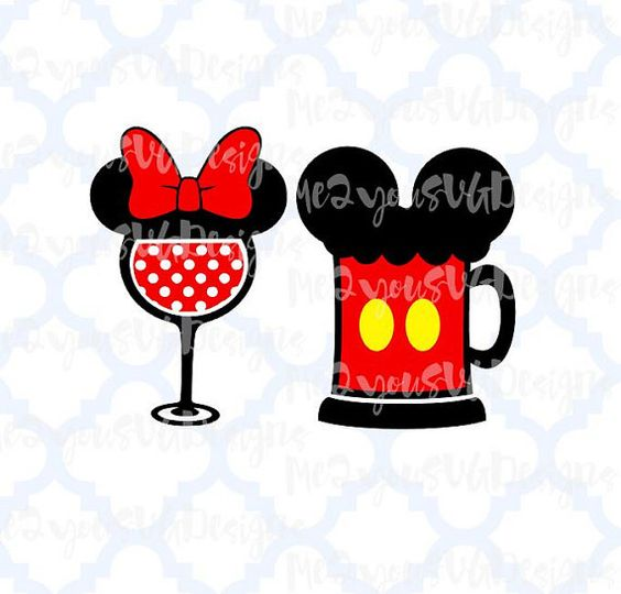 Beer clipart mickey And Minnie Minnie  SVG