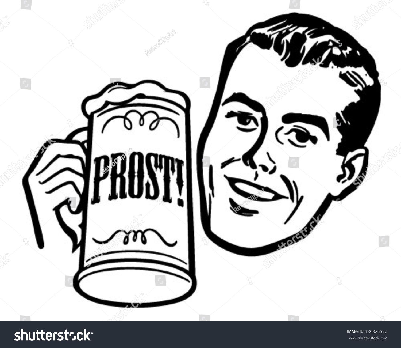 Beer clipart retro #7
