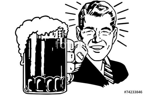 Beer clipart retro #4