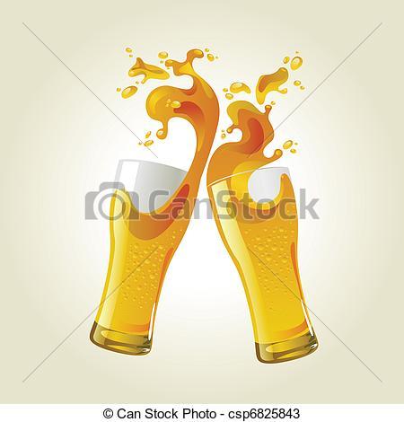 Beer clipart toast Beer glasses splash glasses making
