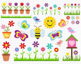 Bird clipart bee Clip Spring Etsy Art bees
