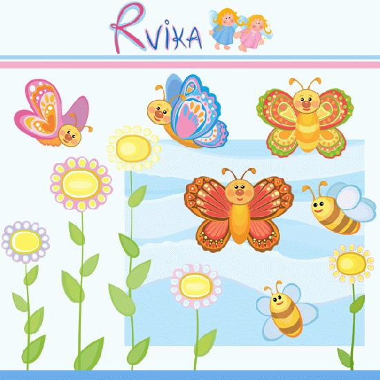 Bees clipart butterfly Butterflies MyGrafico: Clipart Bees Butterflies