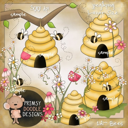 Bees clipart country Designs Doodle Bees 12 »
