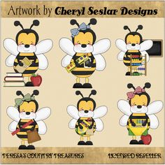 Bees clipart country Graphics and Whimsical #Clipart from