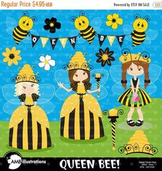 Bees clipart country 12 AMBillustrations clipart Bee Bees
