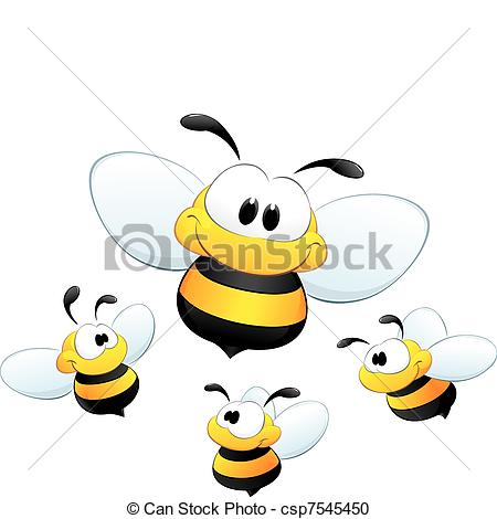 Bees clipart four Clipart csp7545450 Bees of of