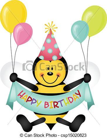 Bees clipart happy birthday Csp15020823 Scalable Happy Happy Vector