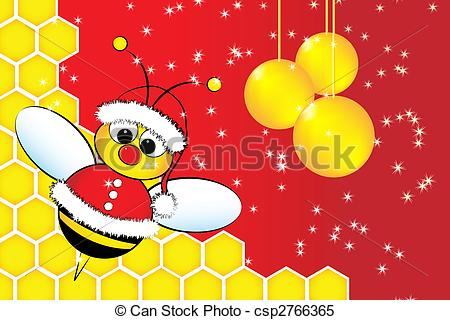 Bees clipart santa Clipart of and a