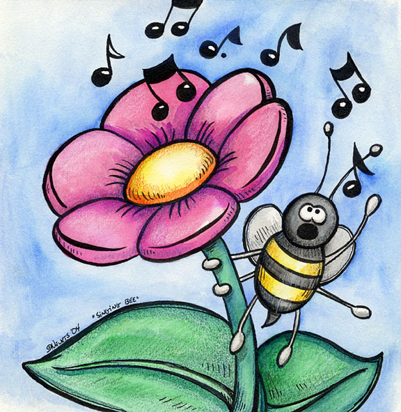 Bees clipart singing bee Spiraln on Bee spiraln by
