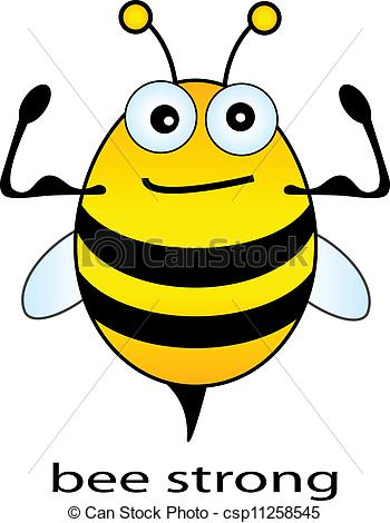 Bees clipart strong Vector Bee Bee of csp11258545