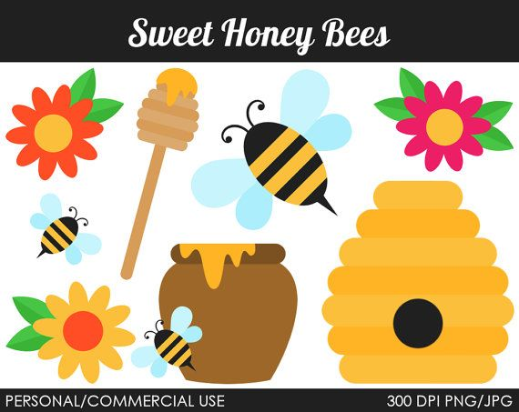 Bees clipart sweet honey Sweet Bees Clip by MareeTruelove