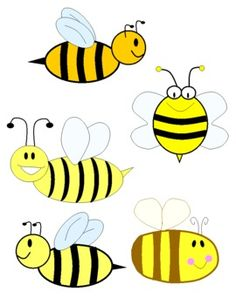 Bees clipart three Personal Clipart Bee Honey for