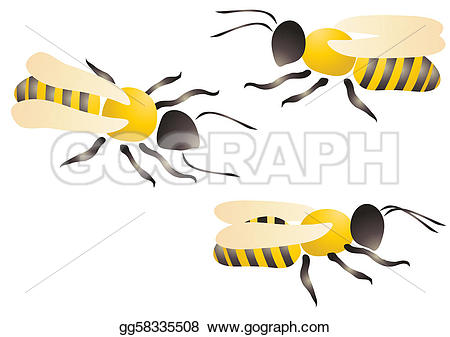 Bees clipart three Of GoGraph a on Drawing