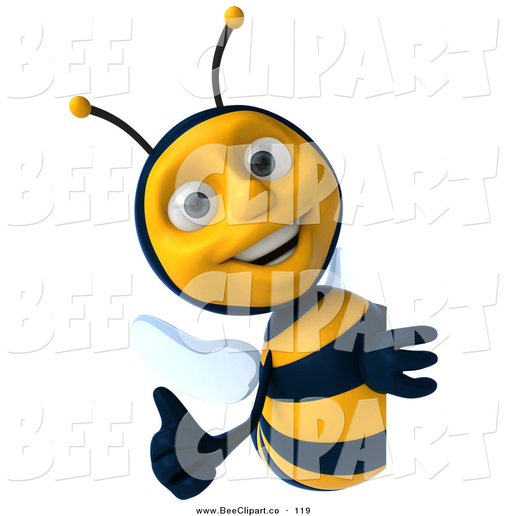 Bees clipart thumbs up  a Character Around Holding