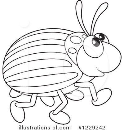Beetle clipart black and white Bannykh Clipart Alex by Illustration